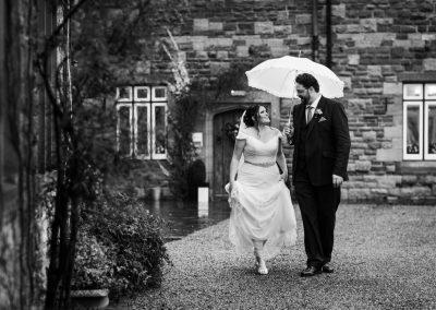 Winter wedding at Caer LLan – Hannah & James