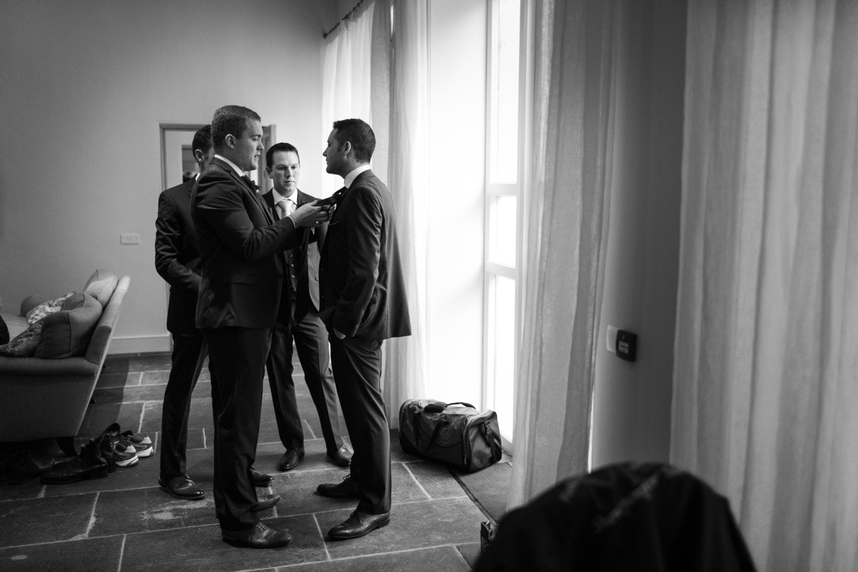 Groom and ushers getting ready