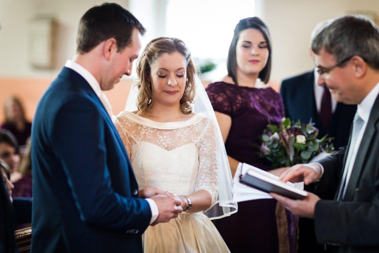 wedding ceremony at Capel Seion
