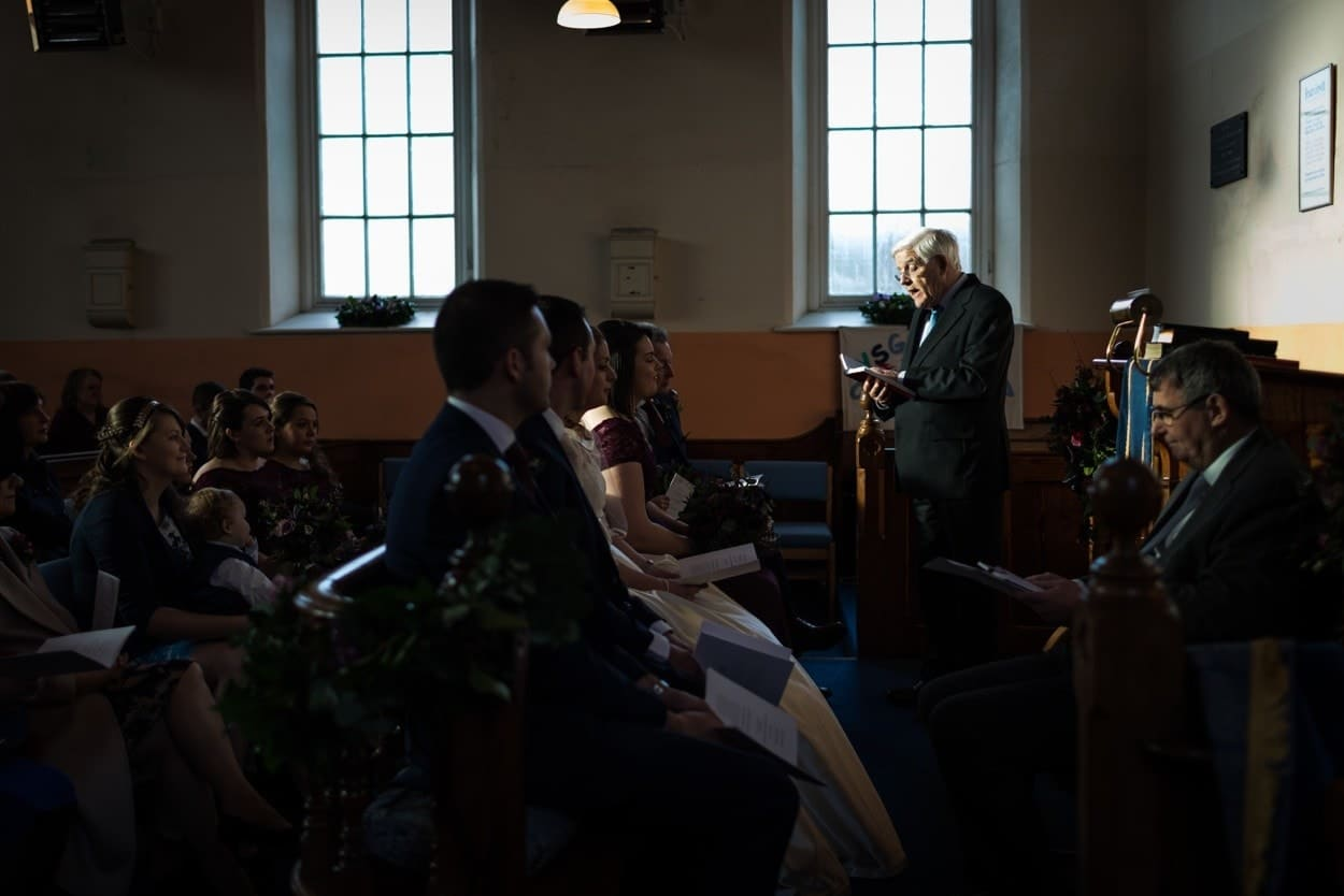 wedding ceremony at Capel Seion