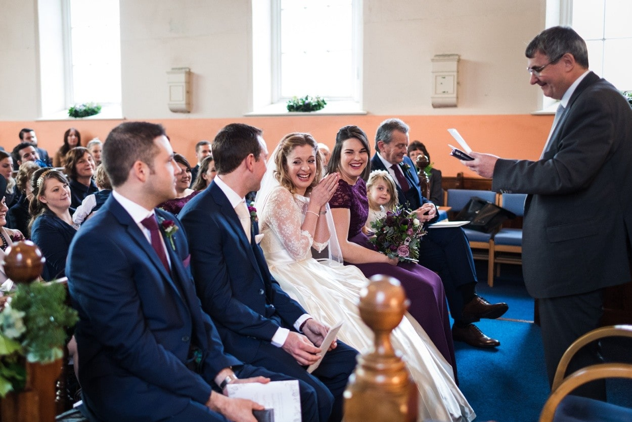 wedding ceremony in West Wales chapel