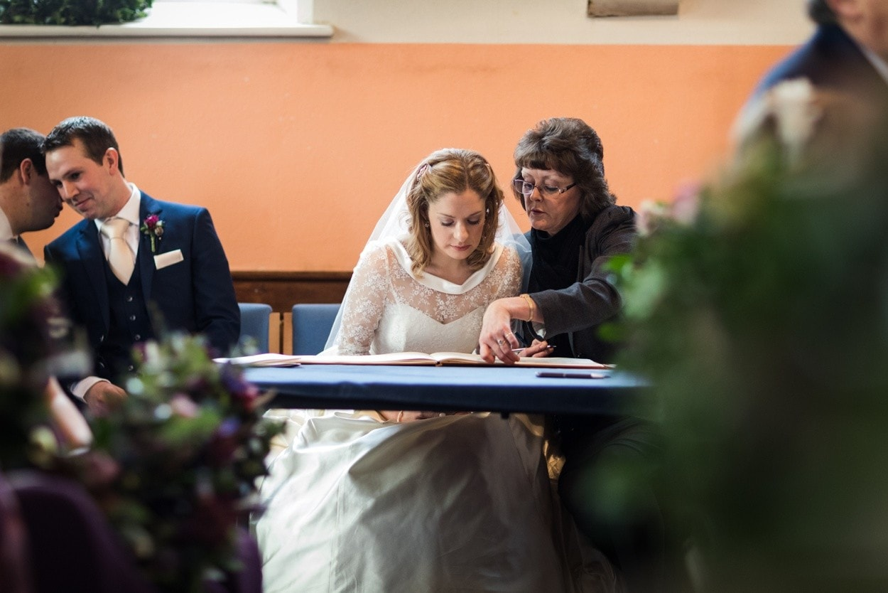 wedding ceremony in West Wales chapel