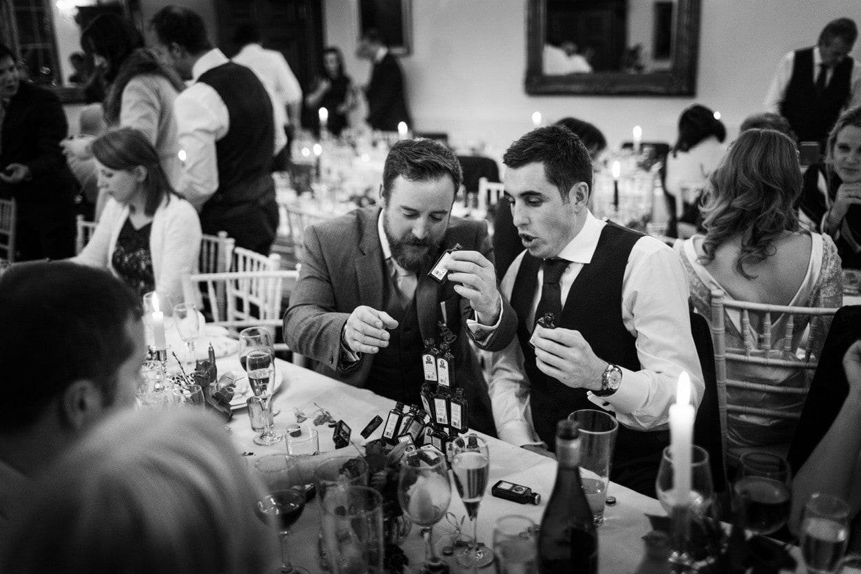wedding reception at Nanteos in west wales