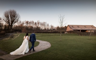 Winter Wedding at The Barn at Brynich – Jessica & Michael
