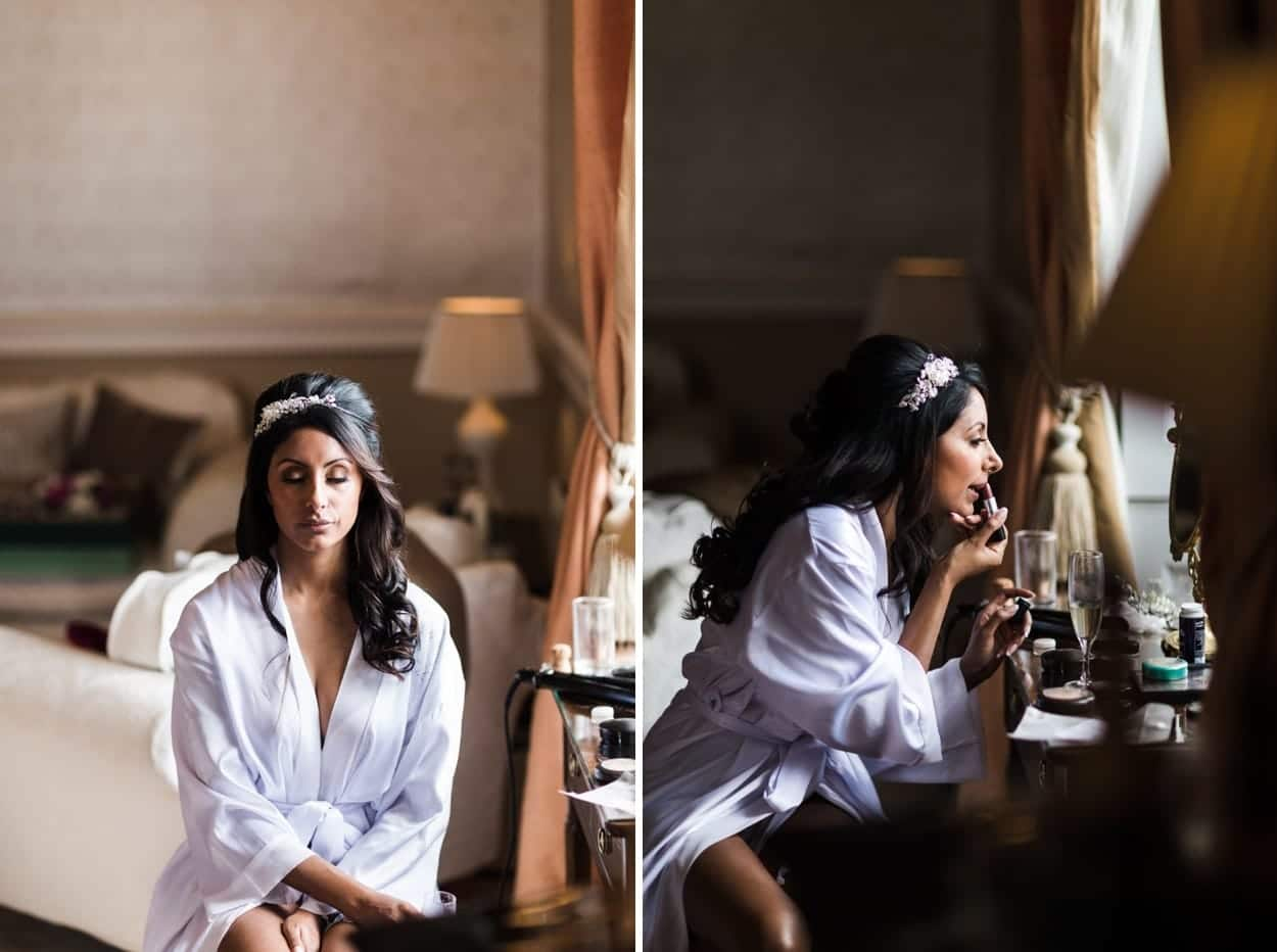 bridal preparations at clearwell castle