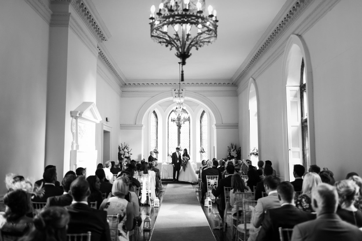 wedding ceremony at clearwell castle