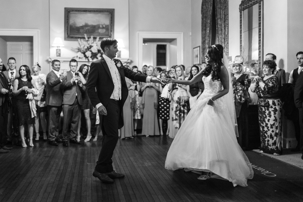 wedding first dance at clearwell castle