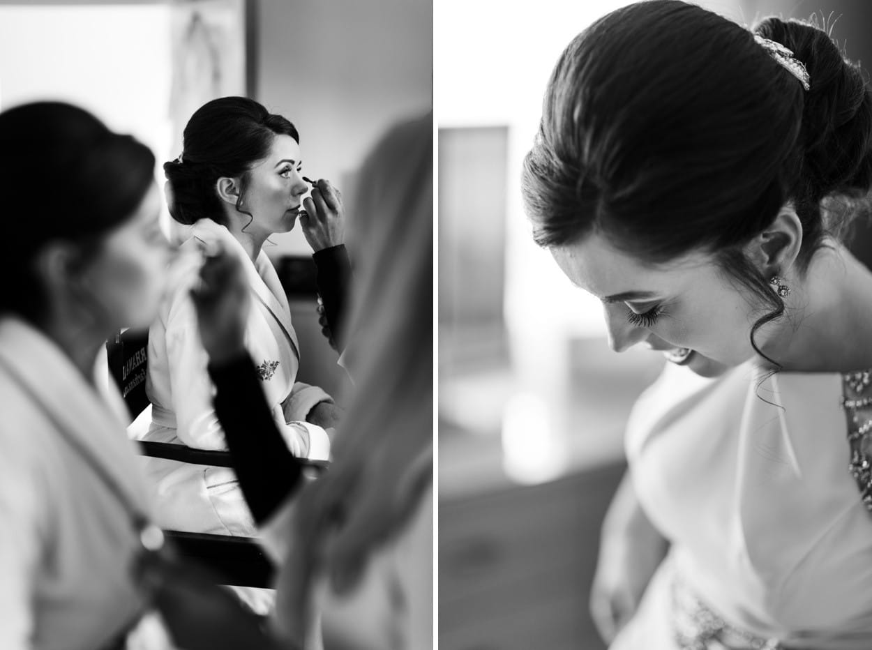 Bridal preparations in South Wales