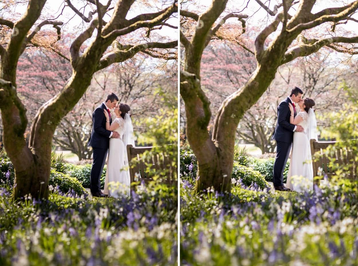 Wedding day portraits in Parc Howard, Llanelli, South Wales