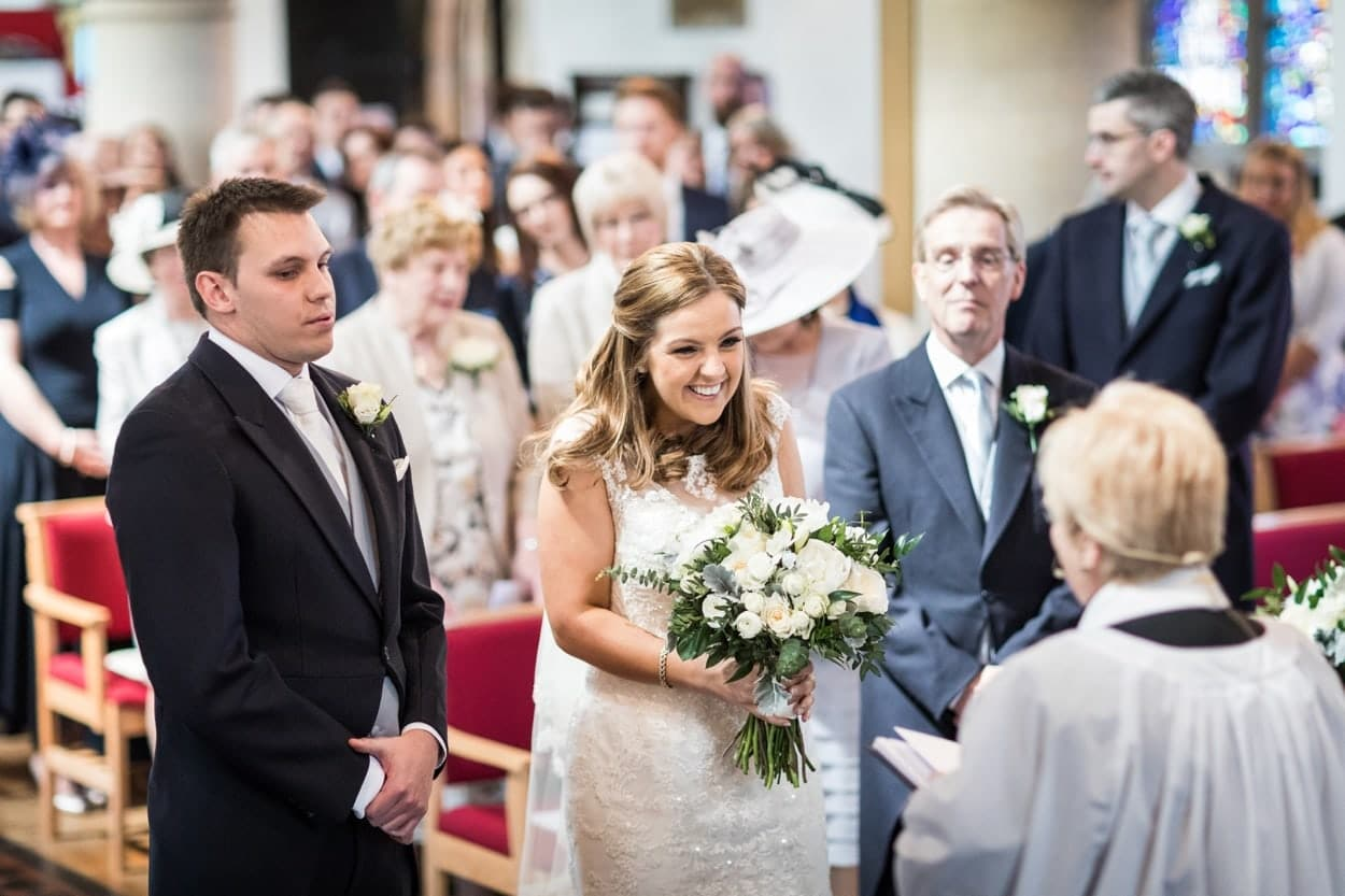 Wedding at St Martins Church in Caerphilly South Wales