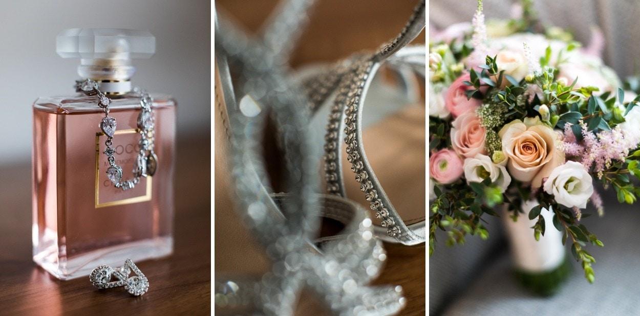 Spring bride wedding day details