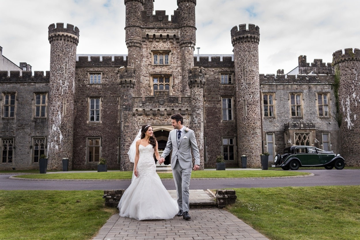 Wedding day portraits at Hensol Castle, South Wales