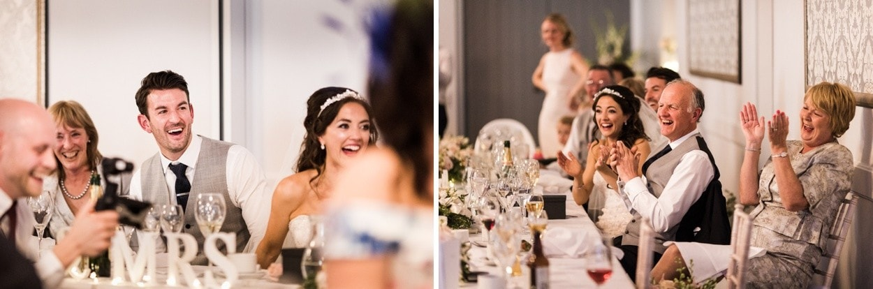 Wedding day speeches at Hensol Castle, South Wales