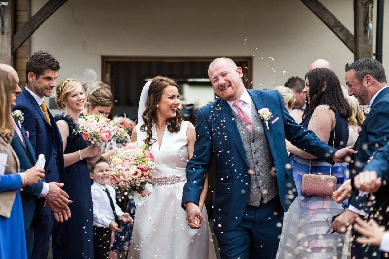 Wedding confetti at Oldwalls