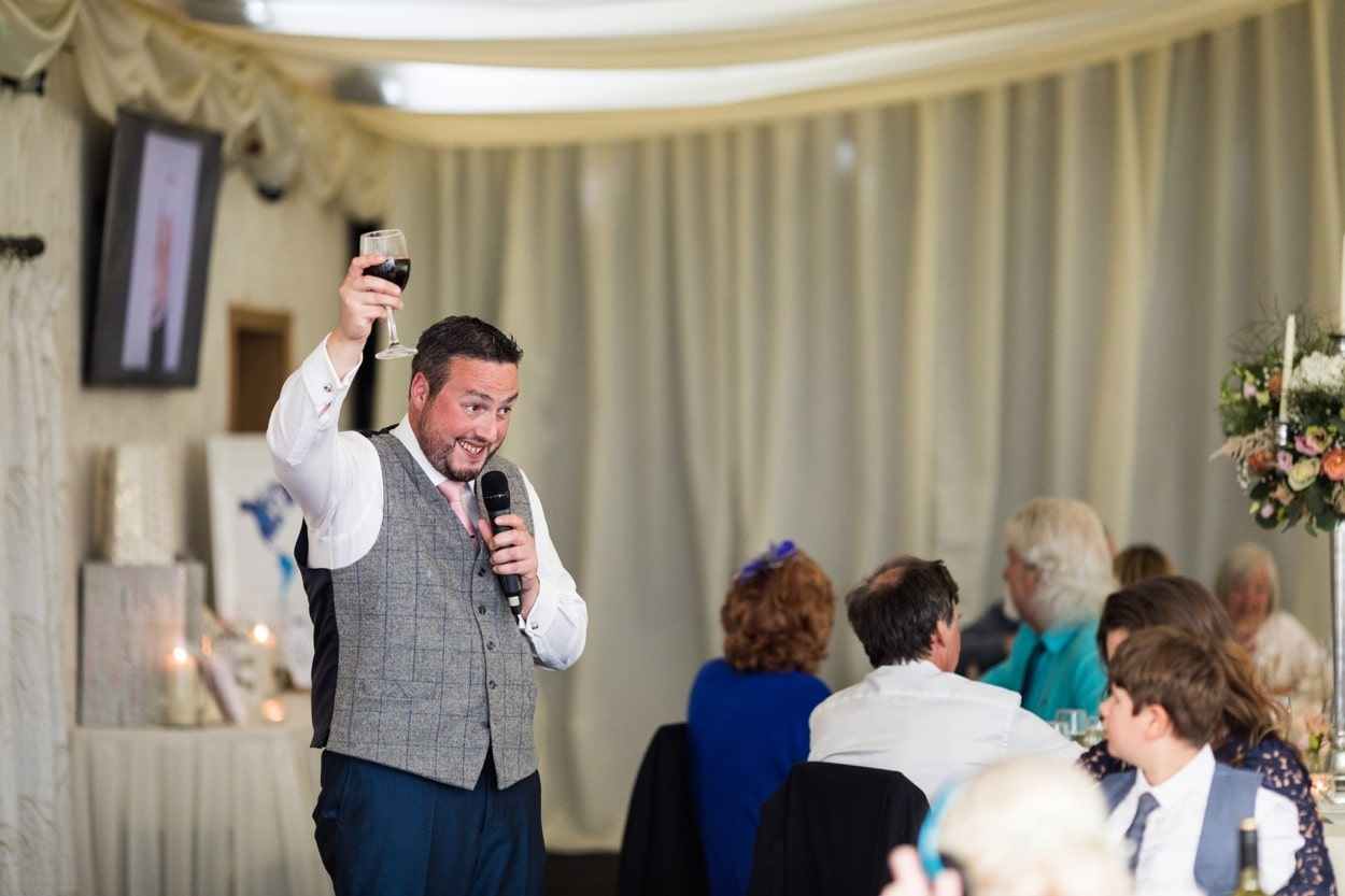 Wedding speeches at Oldwalls