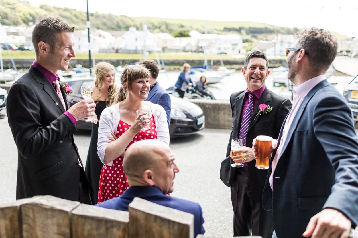 Drinks reception at Harbourmaster in Aberaeron