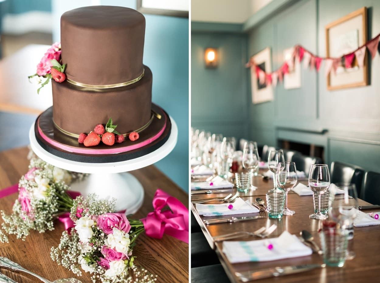 Wedding cake at Harbourmaster in Aberaeron