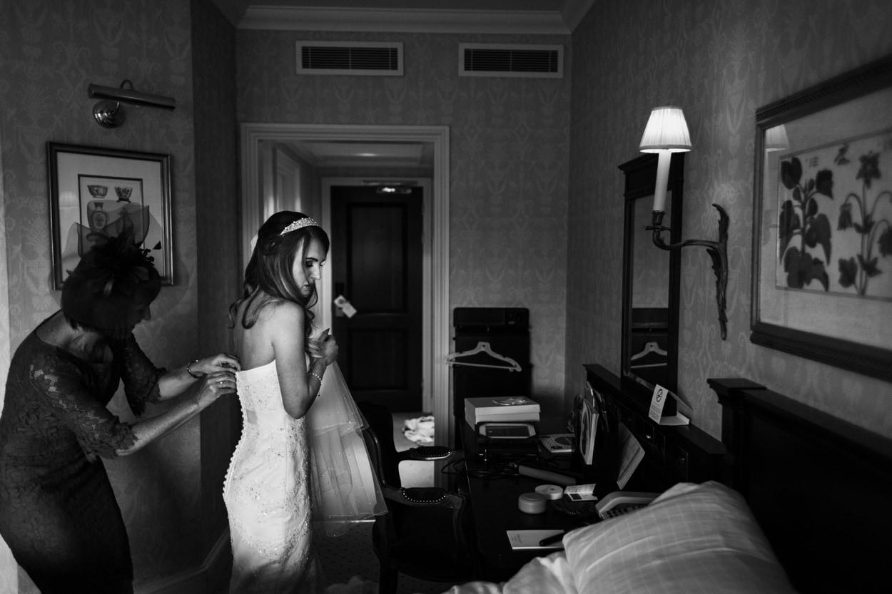 Bridal preparations at Celtic Manor