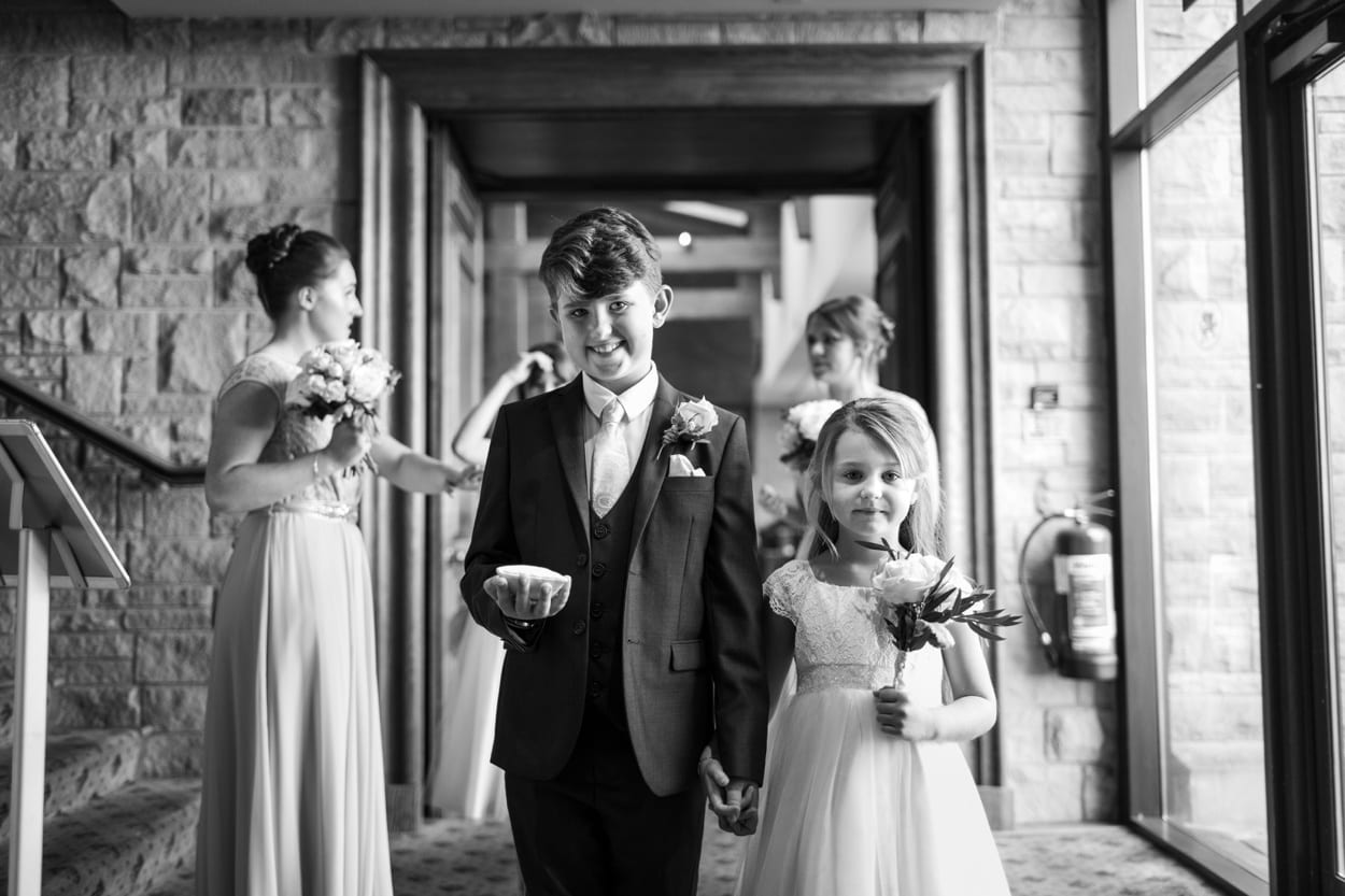 Flower girl an dpage boy at The Lodge, Celtic Manor