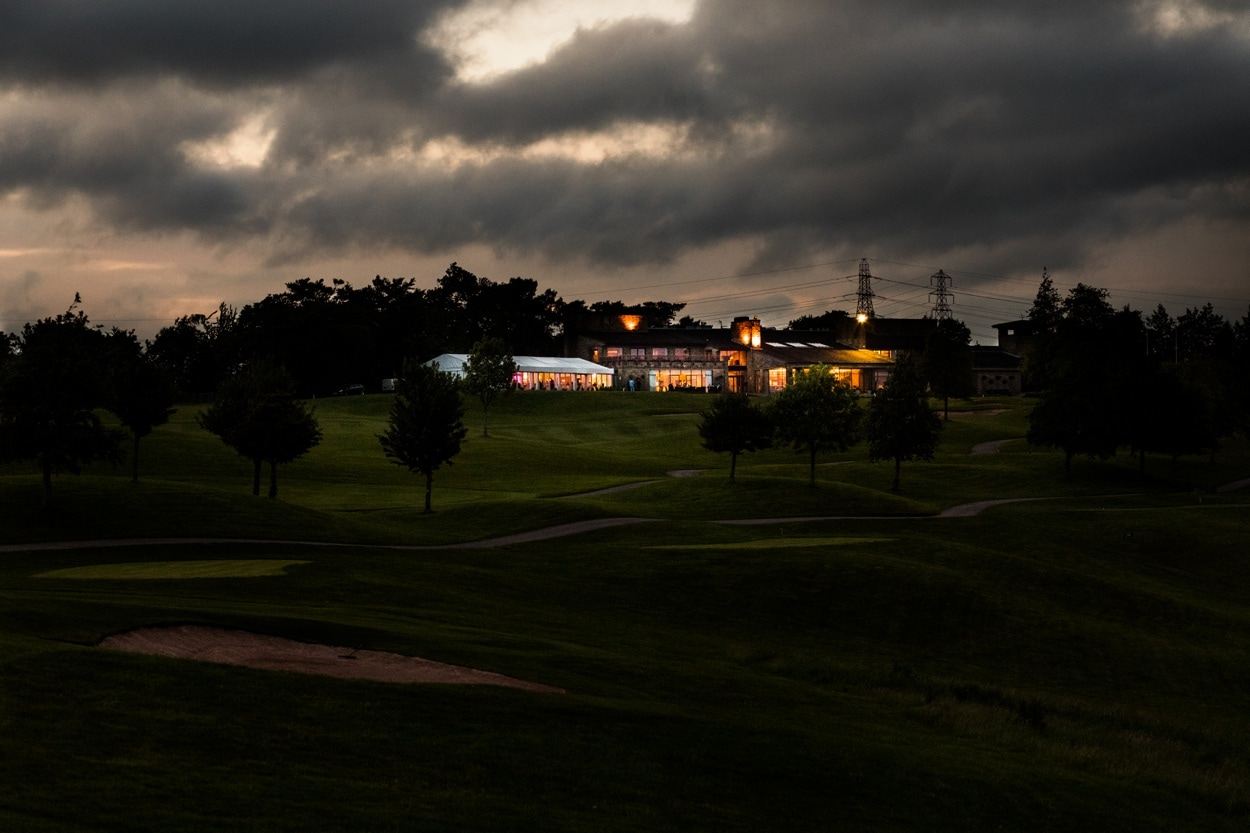 The Lodge, Celtic Manor at night
