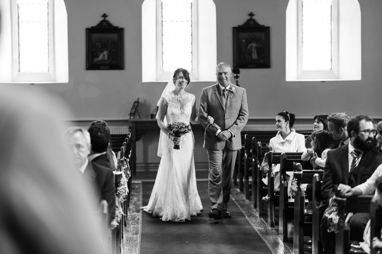 Wedding ceremony at Holy Name Church in Fishguard