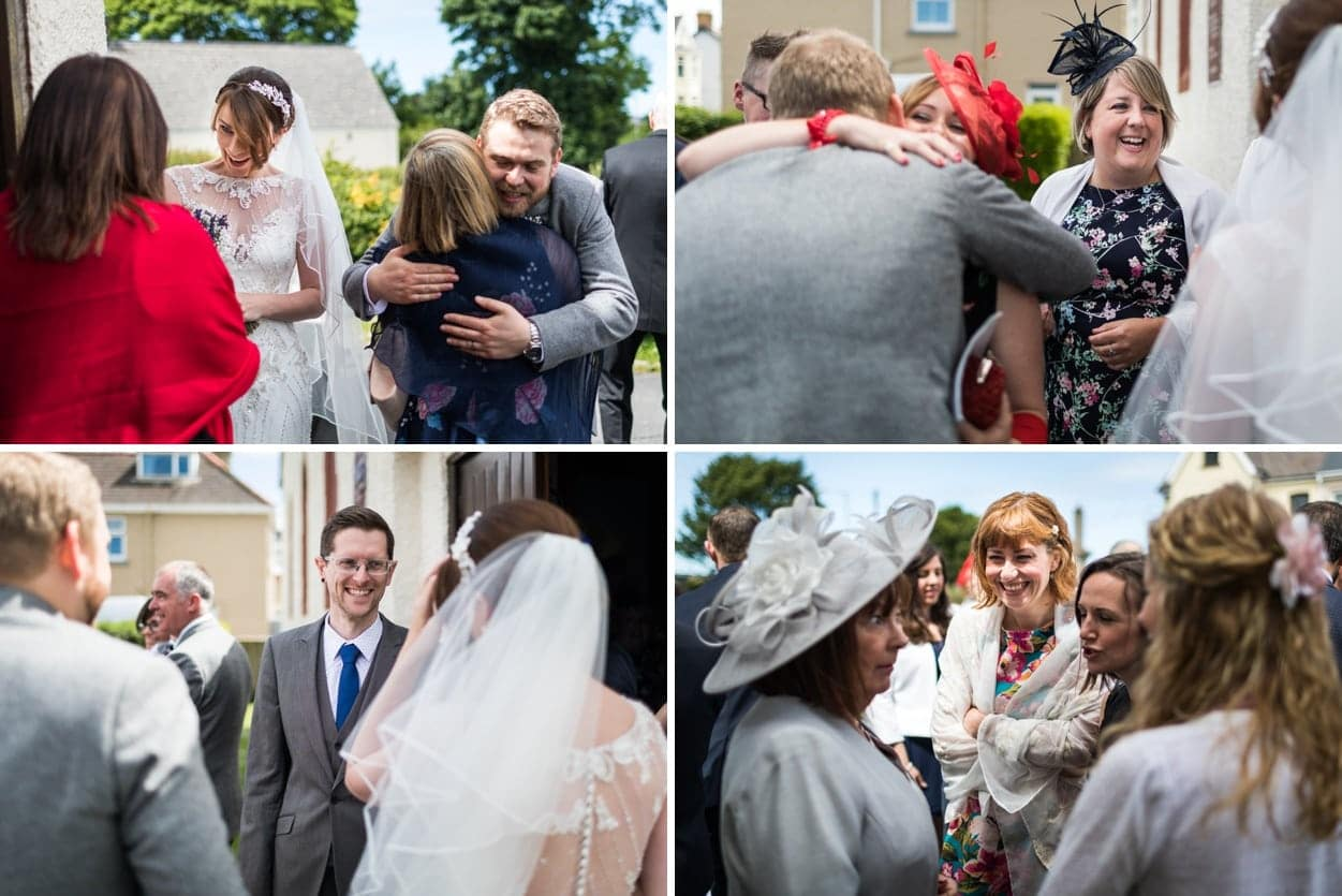Wedding congratulations at Holy Name Church in Fishguard