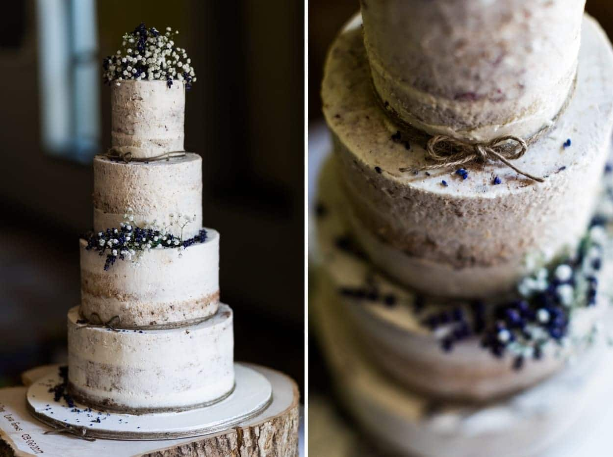 Wedding cake at Hammet House in  West Wales
