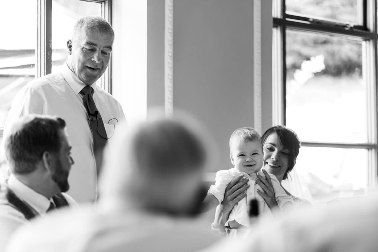 Wedding speeches at Hammet House in  West Wales