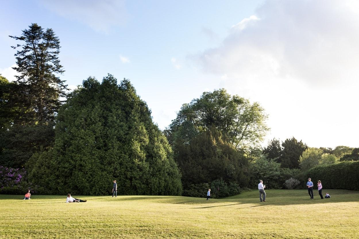 Sunlit grounds of Hammet House
