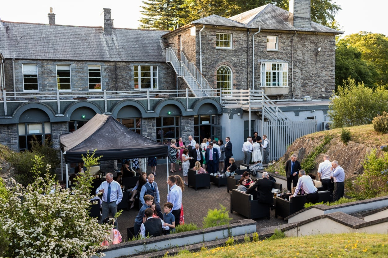 Wedding reception at Hammet House in  West Wales