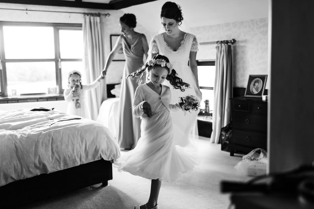 Flower girl twirling dress