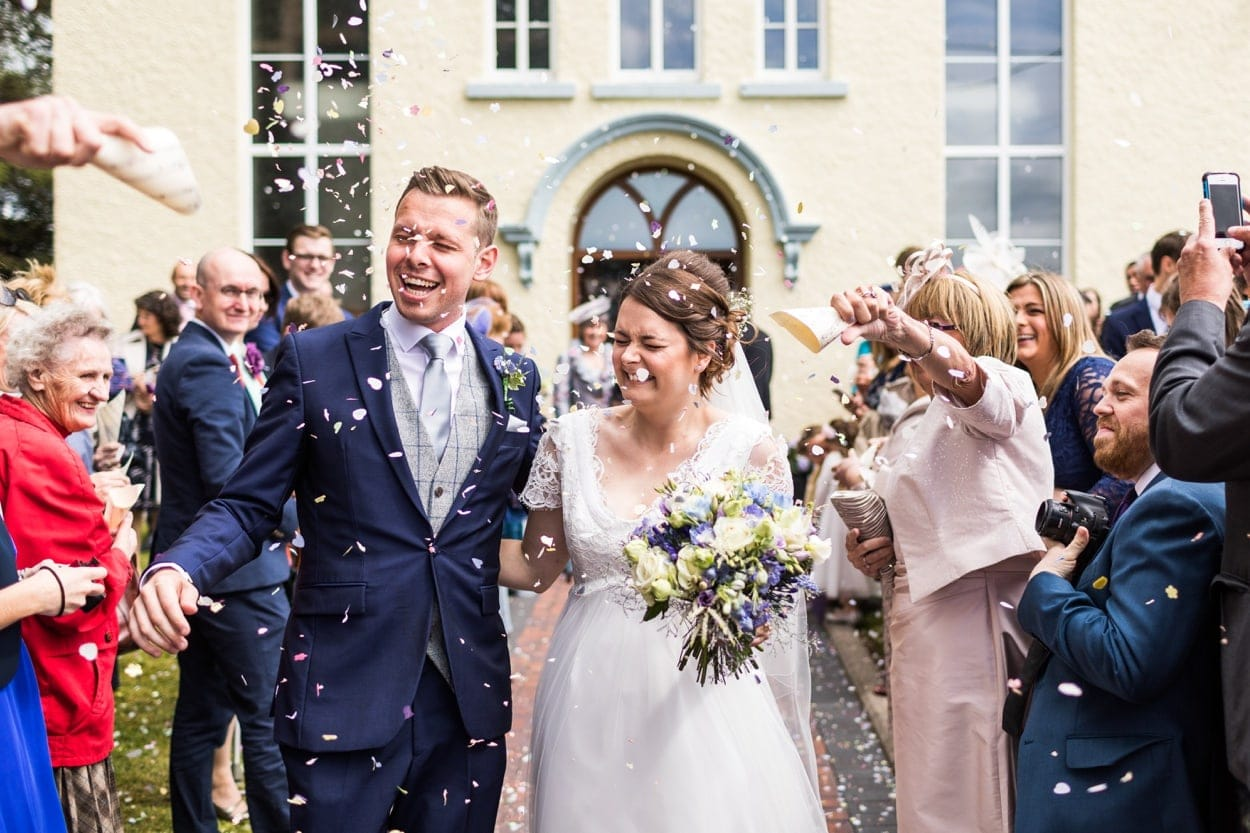 Spring wedding ceremony confetti