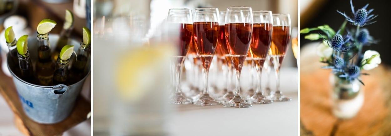 wedding drinks on arrival
