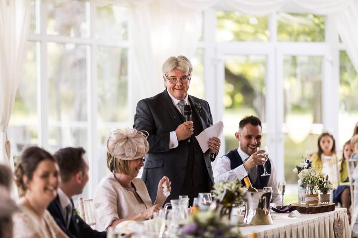 Wedding speeches at Oldwalls