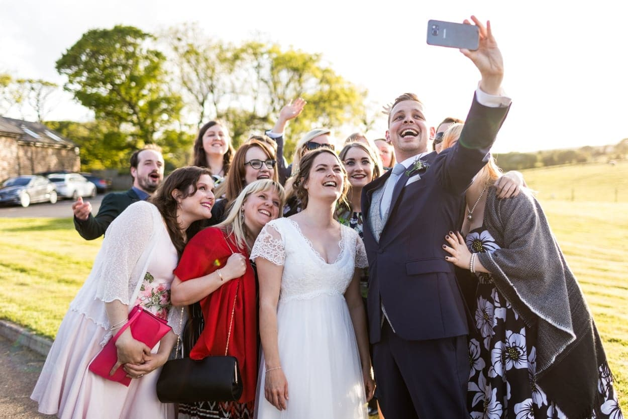 Wedding selfie at Oldwalls