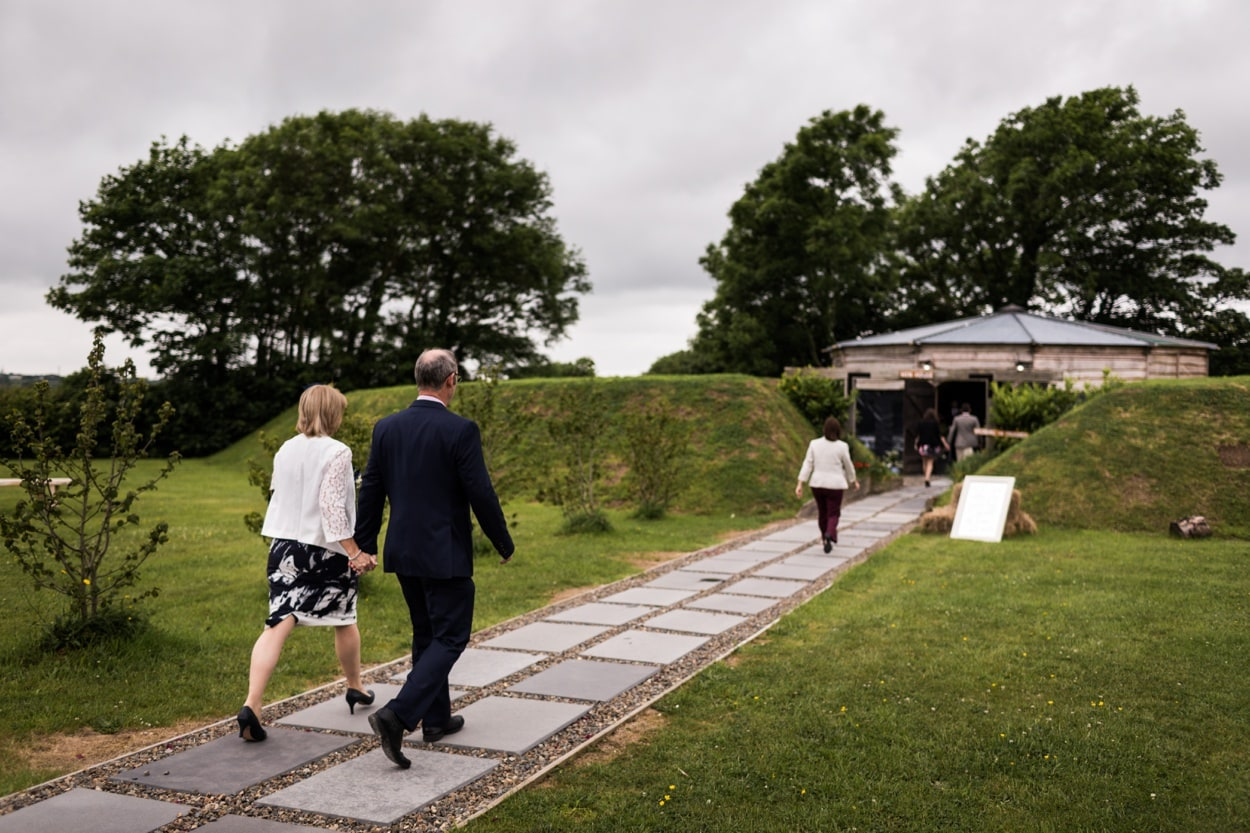Guests arriving Woodhouse Barn in Pembrokeshire