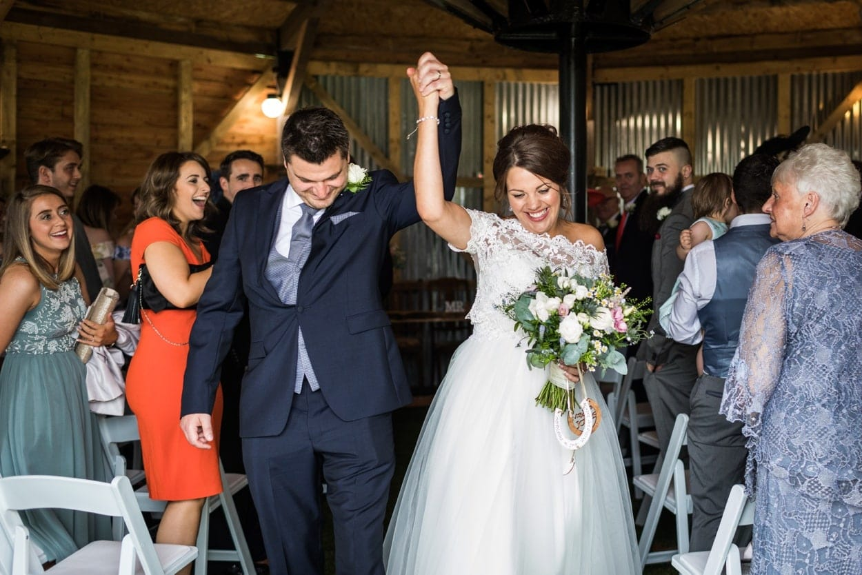Married at Hen House, Woodhouse Barn