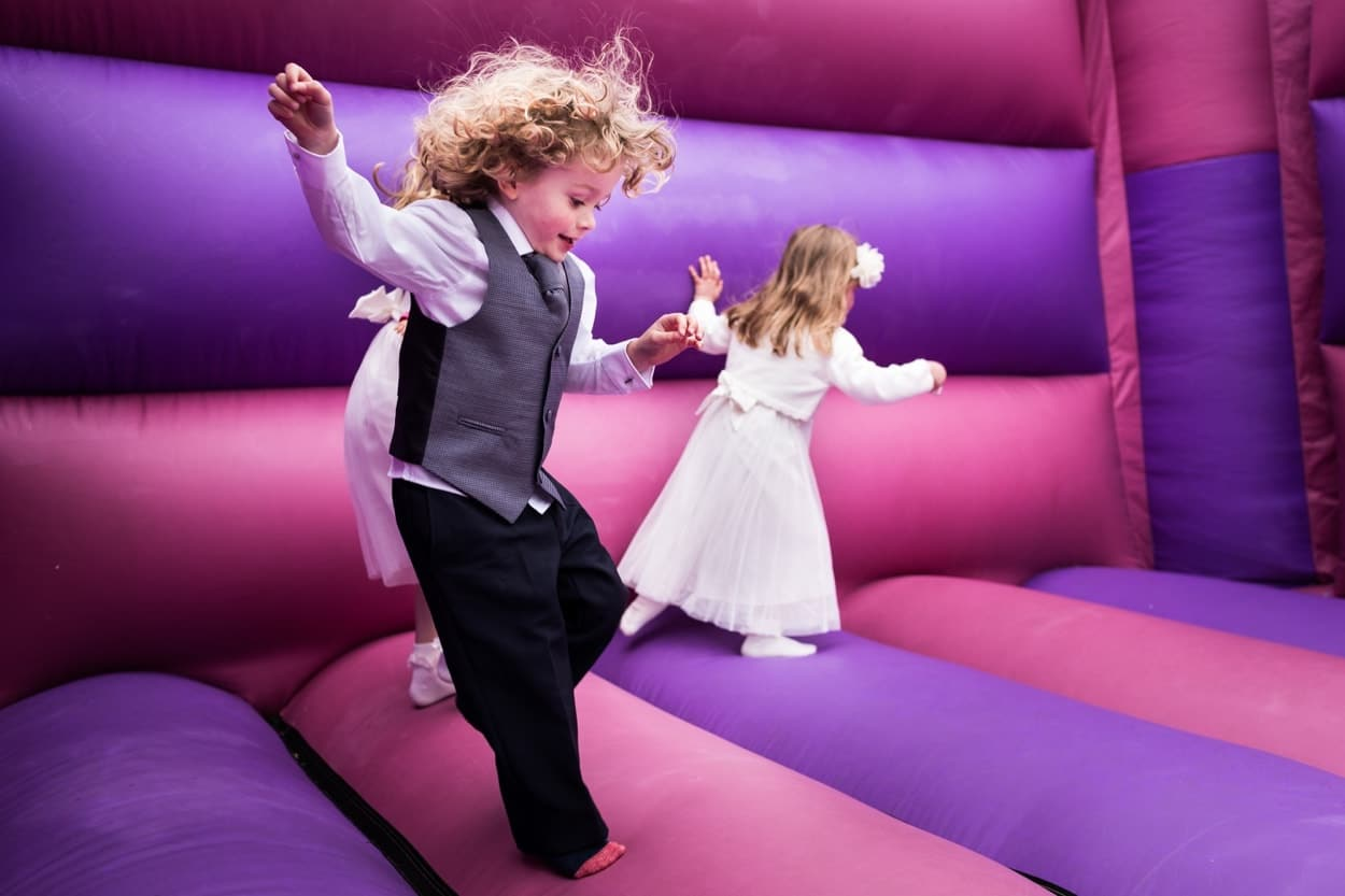 Bouncy castle at Woodhouse Barn Pembroekshire