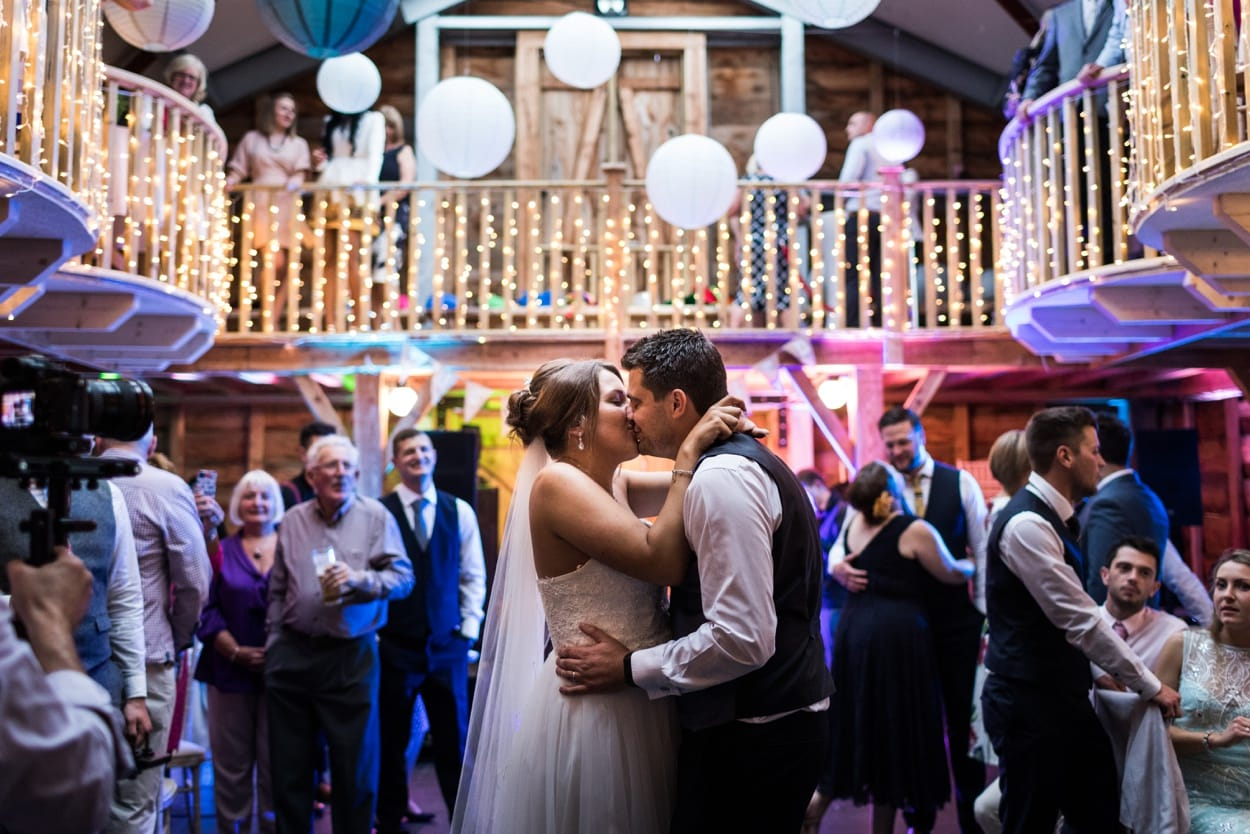 Wedding dance at Woodhouse Barn
