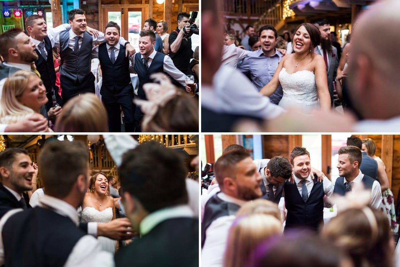 Wedding dance at Woodhouse Barn