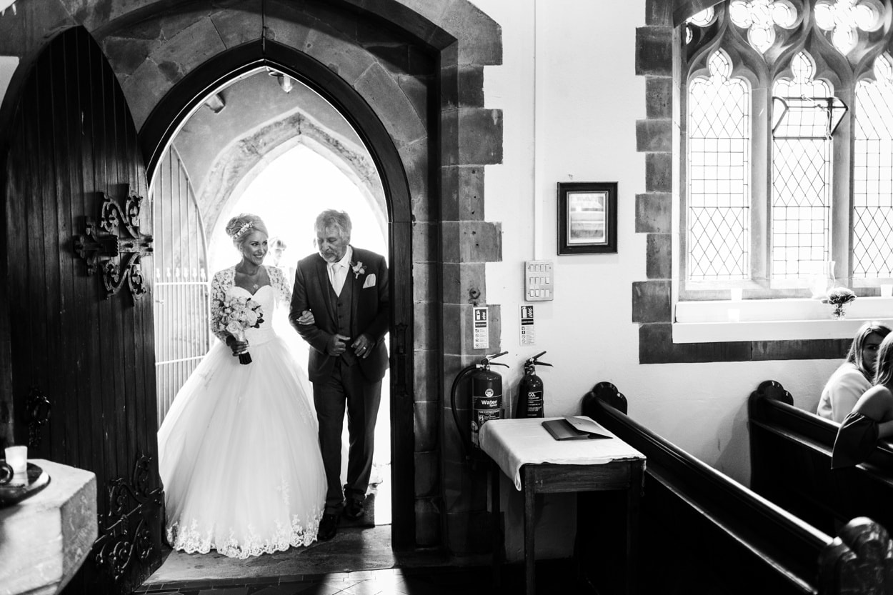 Wedding ceremony at Llanhamlach Church
