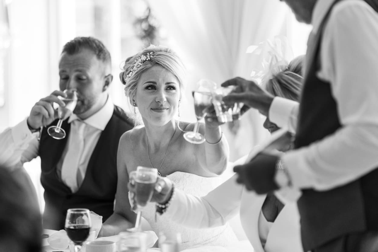 Wedding reception at Peterstone Court