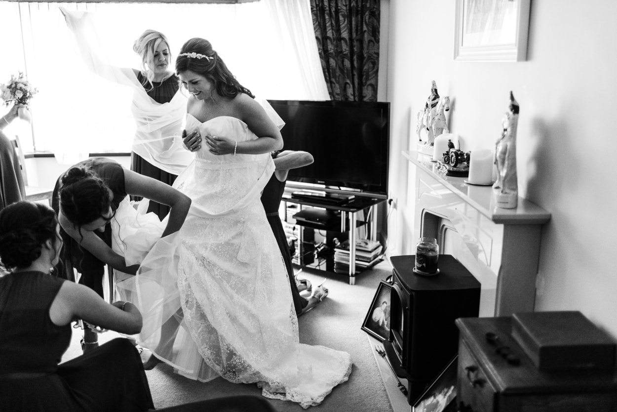 Bridal preparations in Carmarthenshire, West Wales