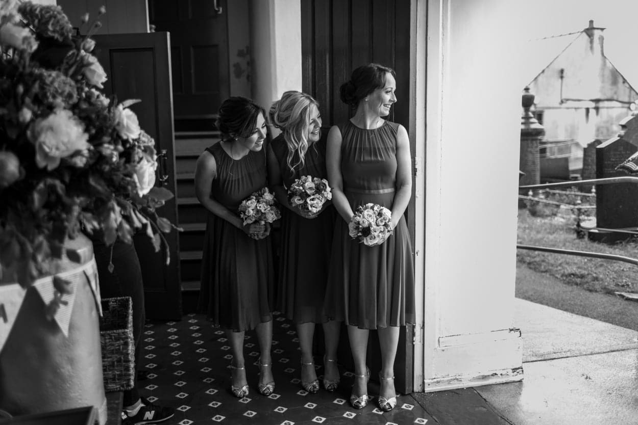 Bridesmaids at Capel Cana, Bancyfelin, West Wales
