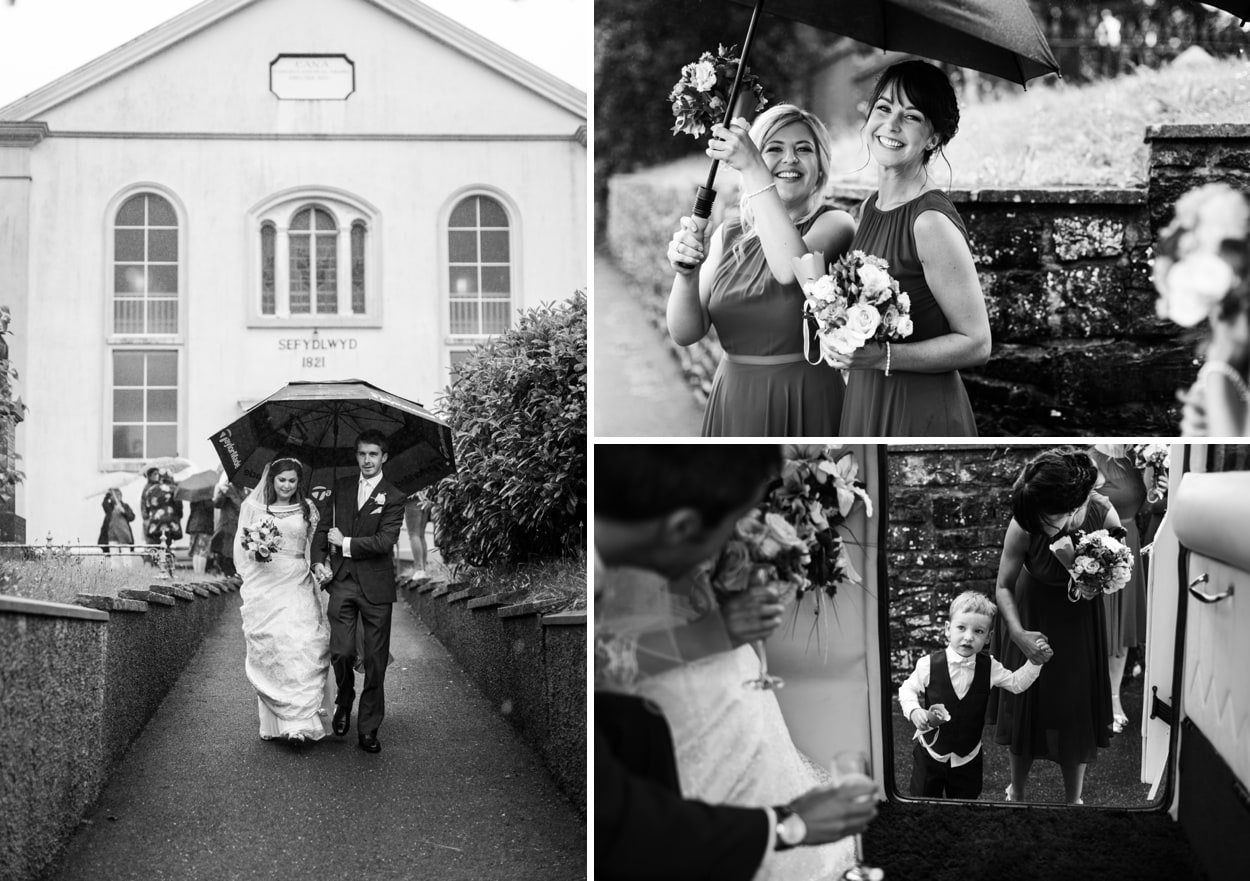 Wedding ceremony at Capel Cana, Bancyfelin, West Wales
