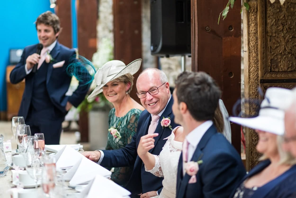 Wedding speeches at The Corran, Carmarthenshire