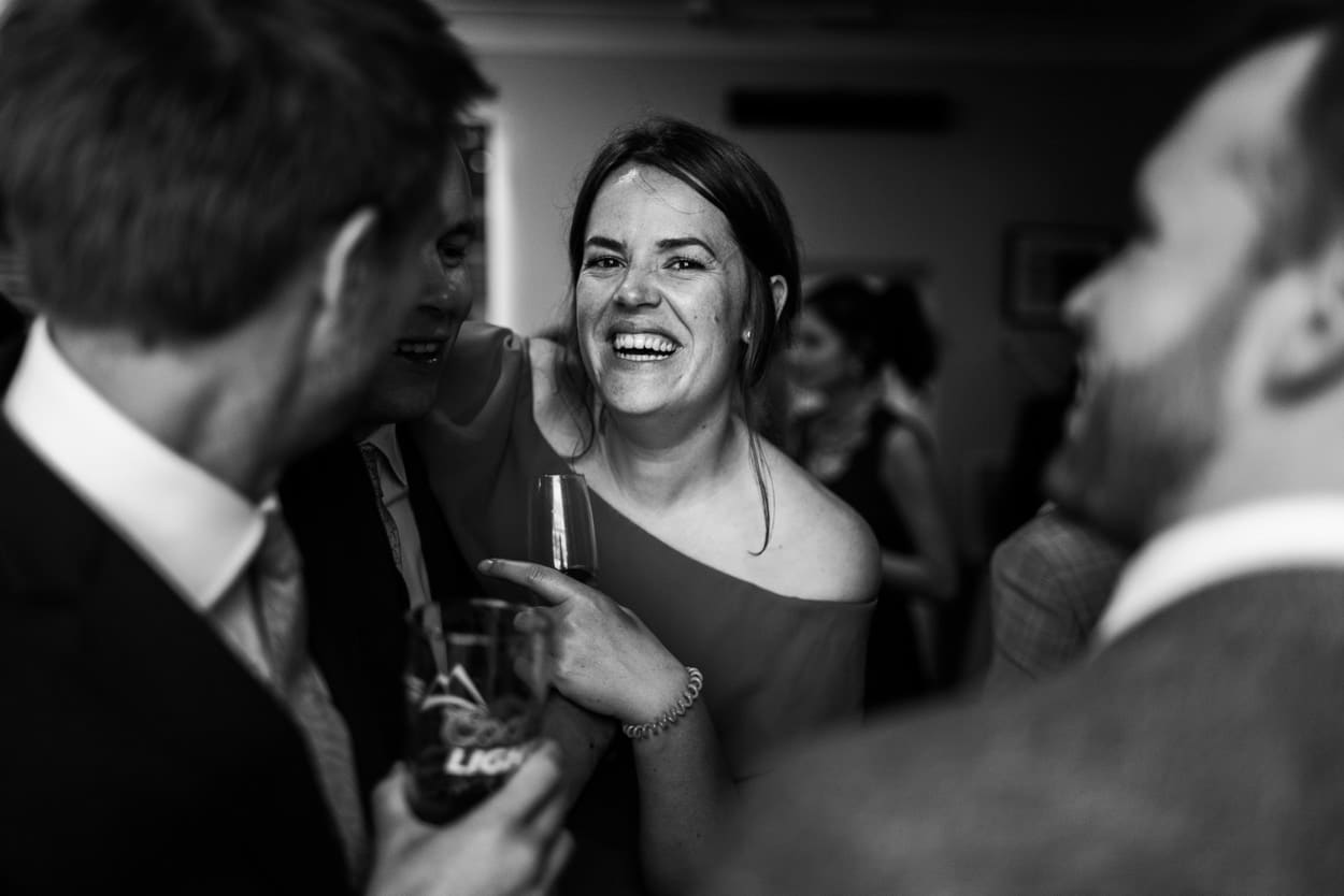 Wedding reception at The Corran, Carmarthenshire