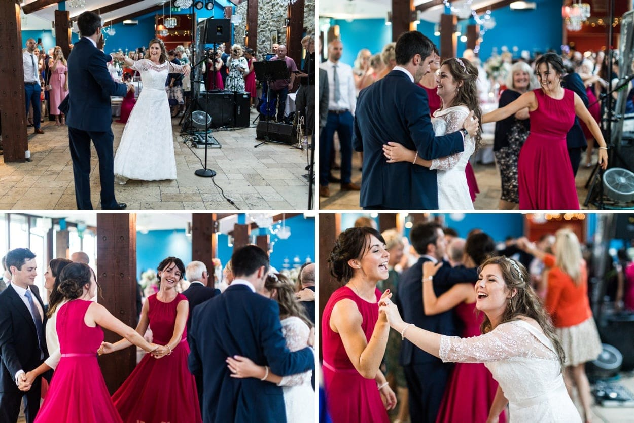Wedding dancing at The Corran, Carmarthenshire