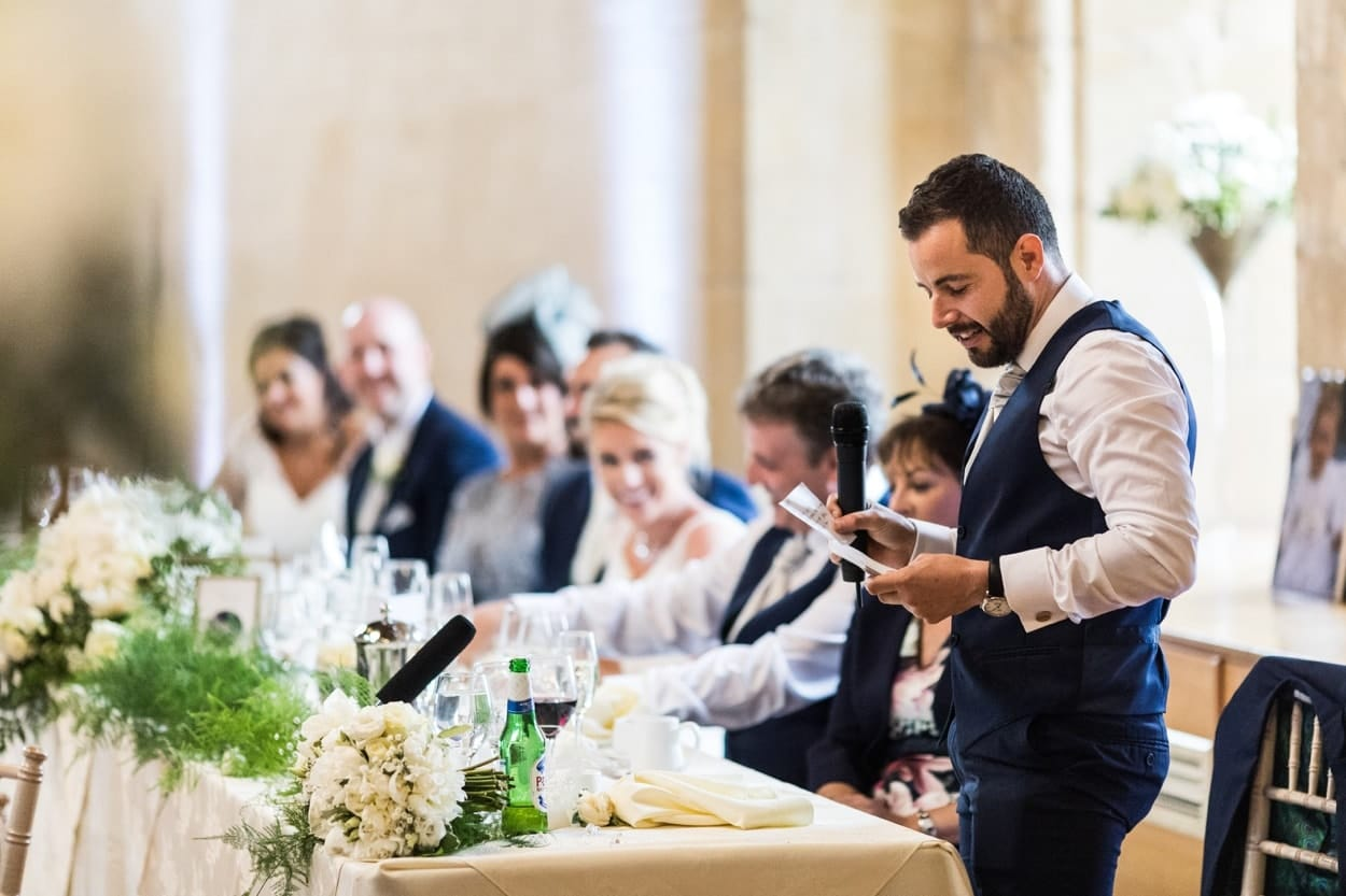 Wedding speeches at St Donats Castle