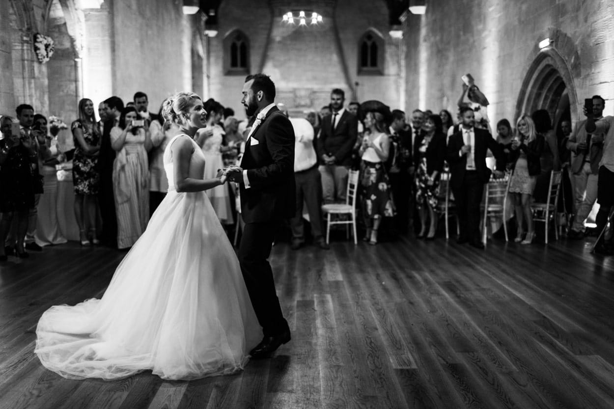 Wedding first dance at St Donats Castle